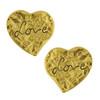 Vintage Yves Saint Laurent Textured Love Heart Earrings