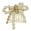 Miriam Haskell Pearl Crystal Bow Comb