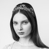 Jennifer Behr Dorothea Gunmetal Crystal Headpiece