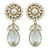 Ciner for Sophie Crystal Pearl Drop Earrings