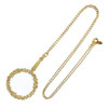 Ciner Gold Magnifying Lens On Chain