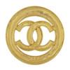 Vintage Chanel Large Shiny CC Logo Brooch