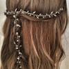 LELET NY Gold Crystal Double Comb Headpiece