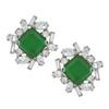 Kenneth Jay Lane Emerald Baguette Earrings
