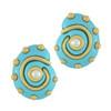 Kenneth Jay Lane Turquoise Shell Earrings