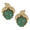 Ciner Emerald Cabhochon Grapes Earrings
