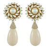 Ciner for Sophie Pale Flower Drop Earrings