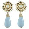 Ciner for Sophie Pale Blue Flower Drop Earrings