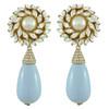Ciner for Sophie Pale Blue Flower Drop Earrings