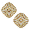 Ciner Art Deco Gold Crystal Earrings