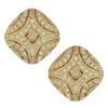 Ciner Art Deco Black Diamond Gold Crystal Earrings