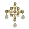 Kenneth Jay Lane Ornate Pearl Pendent Necklace