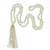 Kenneth Jay Lane Long Pearl Gold Tassel Necklace