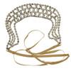 Jennifer Behr Crystal Gold Clara Choker and Headwrap