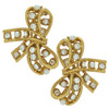 Kenneth Jay Lane Crystal Pearl Bow Earrings