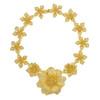 Kenneth Jay Lane Graduated Satin Gold Flower Necklace
