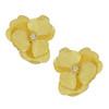 Kenneth Jay Lane Satin Textured Flower Earrings