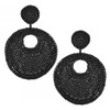 Kenneth Jay Lane Black Beaded Earrings