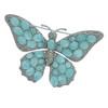 Ciner Aqua Butterfly Brooch