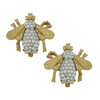 Ciner Crystal Gold Bee Earrings