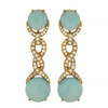 Ciner Deco Amazonite Drop Earrings