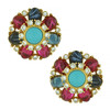 Ben-Amun Regal Gem Button Earrings