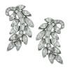 Ben-Amun Silver Fern Crystal Earrings