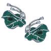 Mei's Jewelry Green Emerald Butterfly Earrings