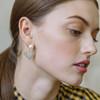 Jennifer Behr Valentine Pearl Crystal Heart Earrings