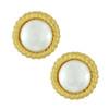 Kenneth Jay Lane Jackie Pearl Gold Braided Earrings
