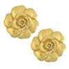 Vintage Chanel Large Gold Camellia Earrings