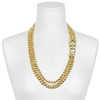 Ciner Gold Pearl Crystal Panther Necklace