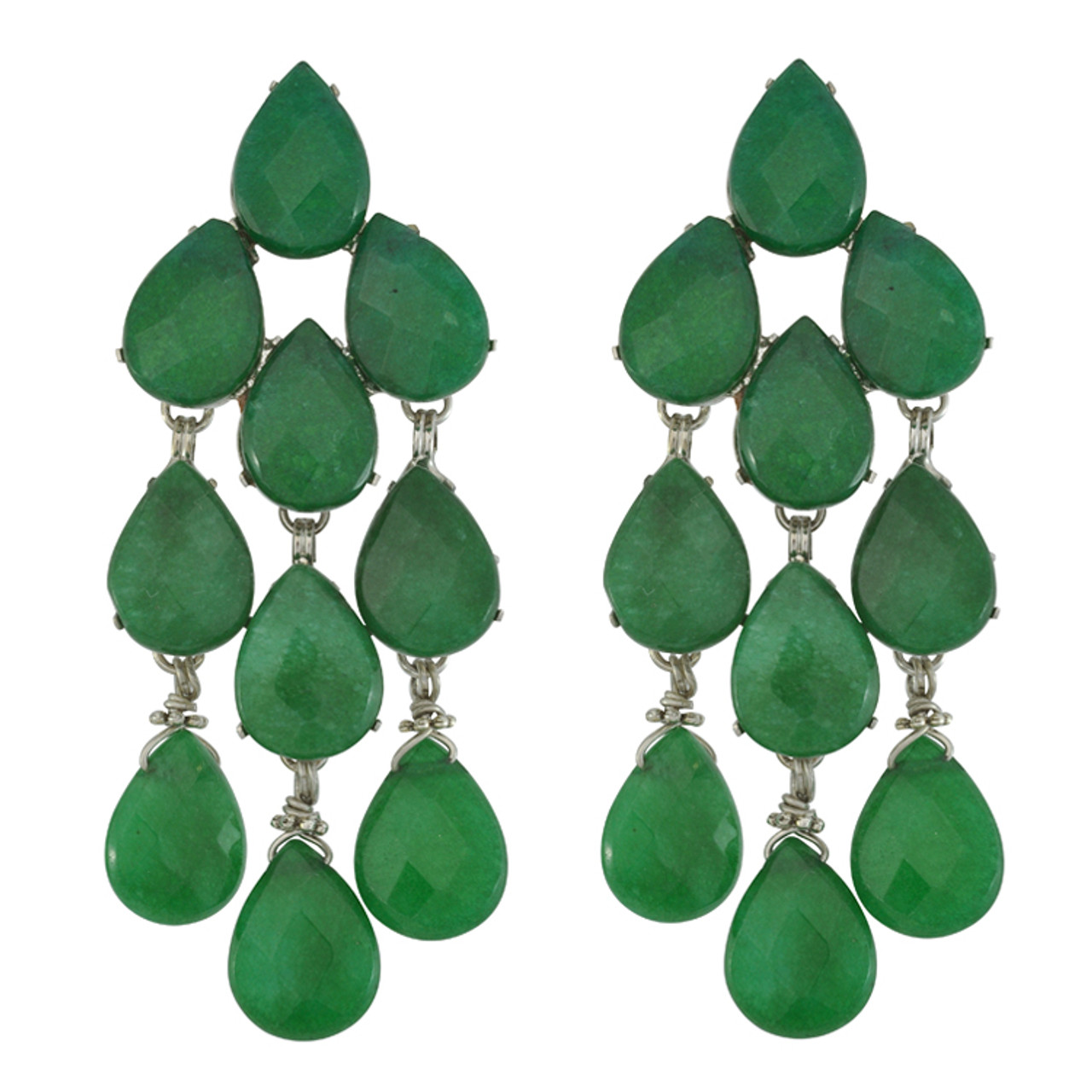 Green Adventurine Dangle Earrings