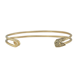 House of Harlow 1960 Gold Safety Pin Stack Bracelet
