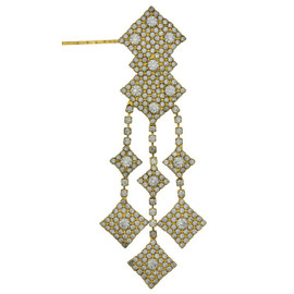 Jennifer Behr Gold Crystal Dita Bobby Pin
