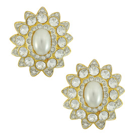 Kenneth Jay Lane Starburst Crystal Earrings