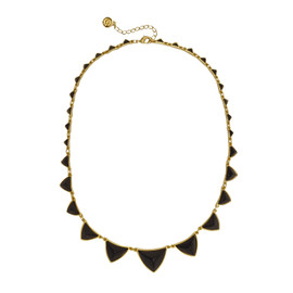 House of Harlow 1960 Pyramid Black Station Necklace