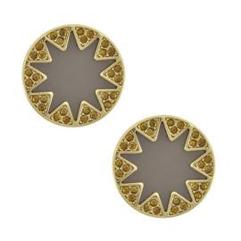 House of Harlow 1960 Earth Black Starburst Earrings