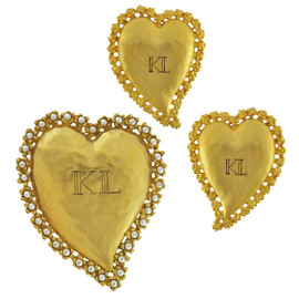 Vintage Karl Lagerfeld Gold Heart Set