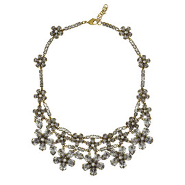 Erickson Beamon Crystal Flower Necklace