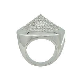 Noir Silver Pave Cone Ring