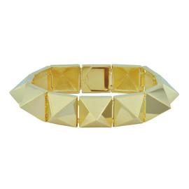 Noir Shiny Gold Pyramid Bracelet