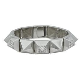 Noir Pave Noir Pyramid Bracelet