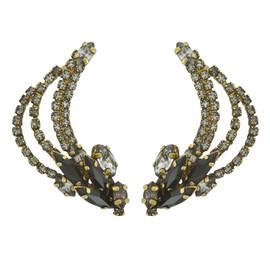Erickson Beamon Black Gold Ear Cuffs