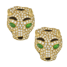 Ciner Crystal Emerald Tiger Earrings