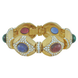 Ciner Multi Colored Crystal Link Bracelet