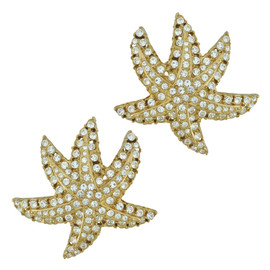 Ciner Crystal Star Earrings