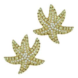 Ciner Jonquil Crystal Star Earrings