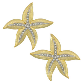Kenneth Jay Lane Large Starfish Earrings