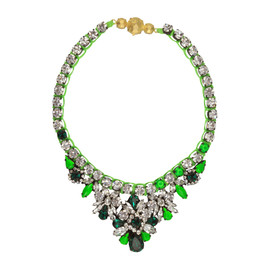 Shourouk Mini Green Theresa Necklace